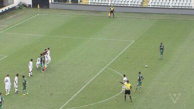 Santos e Palmeiras empatam no Campeonato Paulista Sub-15 - Partida terminou 2 a 2.