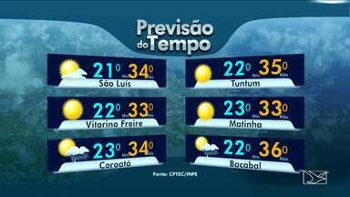 Veja como fica a previsão do tempo para esta terça-feira (22) no Maranhão - Veja como fica a previsão do tempo para esta terça-feira (22) no Maranhão.
