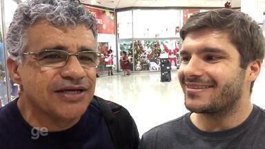 Repórter do GloboEsporte.com fala com torcedores do Grêmio e do Galo sobre a decisão - Assista ao vídeo.
