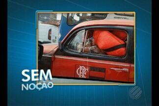 'Sem Noção' flagra motorista conduzindo carro superlotado em rua de Belém - Flagrante foi registrado na rua dos Mundurucus.