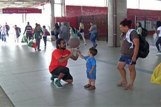 CPTM apresenta projeto com modalidades esportivas - Ações foram realizadas com passageiros de Mogi das Cruzes e Suzano.
