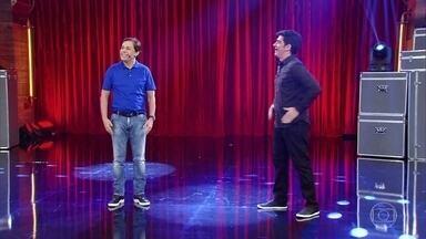 Adnet recebe Tom Cavalcante no Adnight - Humorista imita o rei Roberto Carlos