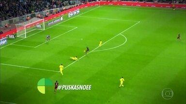 #PuskasNoEE Veja golaços que concorrem, grave um vídeo imitando um deles e mande para nós - Só golaços concorrem ao Prêmio Puskás