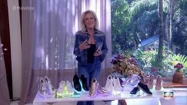 Ana Maria mostra objetos iluminados com led - Tênis iluminados são uma tendência para crianças e adultos. Na Casa de Cristal, Ana também apresenta objetos decorativos e brinquedos divertidos