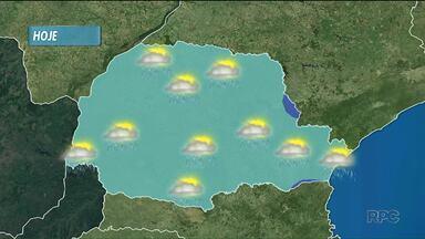 Chuva a caminho do Paraná - As temperaturas refrescam amanhã, em Curitiba.
