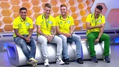 Globo Esporte recebe os campeões Dudu, Róger Guedes, Fabiano e Moisés - Globo Esporte recebe os campeões Dudu, Róger Guedes, Fabiano e Moisés
