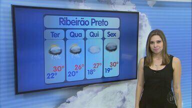 Veja a previsão do tempo para esta terça-feira (29) na região de Ribeirão - Expectativa é de pancadas de chuva com predomínio de sol.