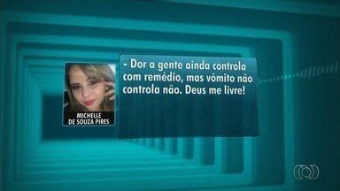 Empresária que morreu após lipo reclamou de dor para a mãe em Goiânia - Michelle Pires, 30, morreu menos de 36h após fazer cirurgias plásticas.Família acusa cirurgião plástico de negligência. Médico nega.