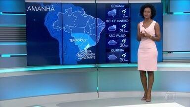 Veja a previsão do tempo para terça-feira (29) no Brasil - Previsão de chuva para o Centro-Oeste, Sudeste e Sul nesta terça-feira (29).