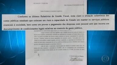 Fernando Pimentel pede reconhecimento de calamidade pública de ordem financeira em MG - Projeto de resolução foi lido em plenário da ALMG nesta segunda-feira.