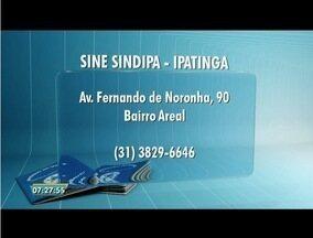Confira vagas de emprego oferecidas pelo sine - São oferecidas vagas no leste de Minas.