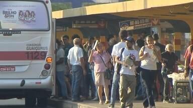 Motoristas de ônibus do transporte coletivo fazem paralisação em Campo Grande - Motoristas de ônibus do transporte coletivo fazem paralisação em Campo Grande