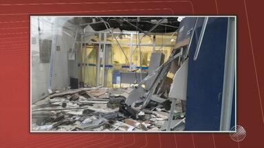 Bandidos explodem caixas eletrônicos em Amélia Rodrigues, região de Feira de Santana - Segundo a polícia, a explosão aconteceu por volta das 2h da madrugada. Os suspeitos fugiram e são procurados.