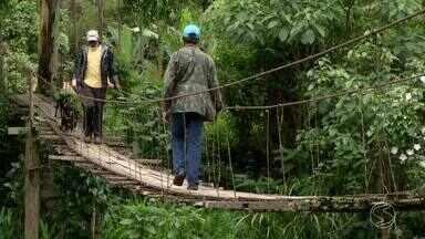 Zé do Bairro vai ao Campo Alegre, em Resende, RJ, conferir reclamação de moradores - Eles estão preocupados com a situação de uma ponte de madeira, que está caindo.
