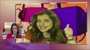 Renata Dominguez foi apresentadora de TV no Equador - Atriz trabalhou como apresentadora dos 12 aos 19 anos. Atualmente, ela interpreta a Sirlene na novela 'Sol Nascente'