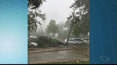 Temporal causa estragos em Colatina, no Noroeste do ES - A tempestade começou no inicio da tarde desta quinta-feira (8).