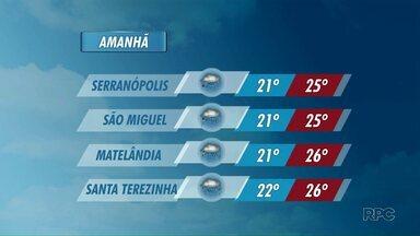Chove em Foz e região nesse sábado - No sudoeste, o tempo também fica fechado