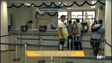 Reforma da Previdência aumenta movimento nas agências em Ponta Grossa - A preocupação é com a nova proposta para aposentadoria