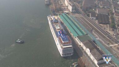 Mais navios de passageiros chegam ao Porto de Santos - Taxas de praticagem ficaram mais baixas para os armadores.