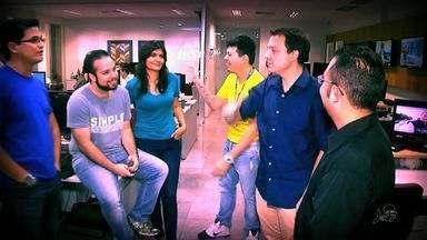 Equipe do Globo Esporte se reúne para planejar o FuleraGE retrô - Confira com Fábio Pizzato
