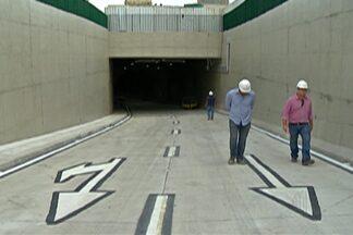 Túnel na área central de Mogi é aberto neste sábado - Inauguração será de manhã. Obra passou por últimos ajustes nesta sexta.