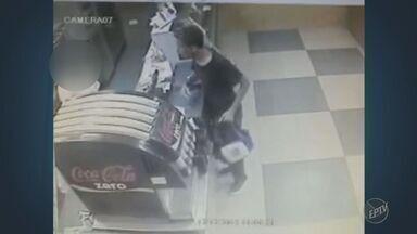 PM de Campinas prende suspeito de roubar duas franquias de lanchonetes - Em um dos casos, imagens de circuito interno flagraram a ação do suspeito.