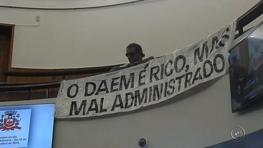 Câmara volta atrás e vota contra concessão do Daem à iniciativa privada em Marília - Em Marília teve reviravolta no processo de concessão do Daem, o Departamento de Água e Esgoto, à iniciativa privada. A Câmara voltou atrás no que tinha feito no ano passado e votou contra a concessão.