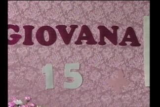 Realização do sonho de uma jovem de Cerro Largo, RS - As pessoas fizeram uma festa de aniversário para a jovem Giovana de 15 anos.