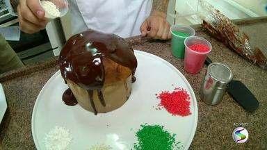 Chef de cozinha ensina a preparar panetone recheado com chocolate - Já tá com todo o esquema da ceia de Natal pronto? Arrume mais um espaço, porque essa sobremesa não pode faltar nesta noite.