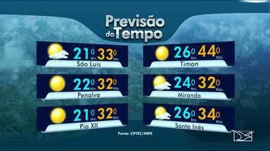 Confira a previsão de tempo para este sábado (24) no Maranhão - Confira a previsão de tempo para este sábado (24) no Maranhão