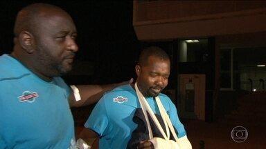 Polícia analisa imagens das câmeras de segurança do Centro de Treinamento do Fluminense - Investigadores tentam identificar os dois bandidos foragidos, depois da tentativa de assalto ao local
