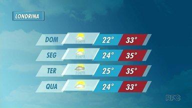 Meteorologia prevê chuvas isoladas no domingo de Natal para o Paraná - As áreas de instabilidade não se afastam nos próximos dias. E a tendência é de chuvas isoladas a qualquer hora.