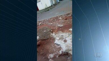Motorista reclama das péssimas condições de acesso à BR-060, em Goiânia - Trecho fica na saída para Rio Verde.