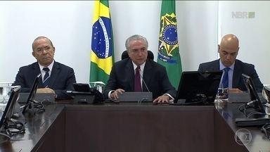"""Temer chama massacre em presídio de """"acidente pavoroso"""" - Foi a primeira vez que ele falou sobre a morte de presos em Manaus.Governo divulgou pontos do Plano Nacional de Segurança."""