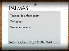 Confira as vagas de emprego para Palmas, Porto Nacional e Gurupi - Confira as vagas de emprego para Palmas, Porto Nacional e Gurupi