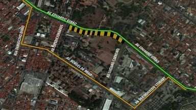 Nova interdição complica ainda mais trânsito no Bairro de Fátima - Bairro recebe obras de drenagem e de melhorias do trânsito.