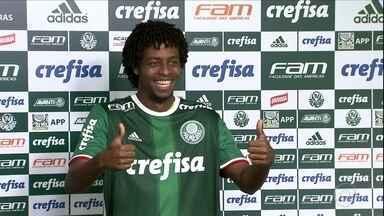 Keno é o primeiro reforço apresentado no Palmeiras - Keno é o primeiro reforço apresentado no Palmeiras