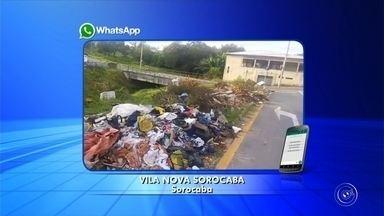 Lixo se acumula nas ruas e causa mau cheiro em bairro de Sorocaba - Em Sorocaba (SP), o problema é a falta de consciência de muita gente. Sujeira toma conta de um bairro da Zona Norte.