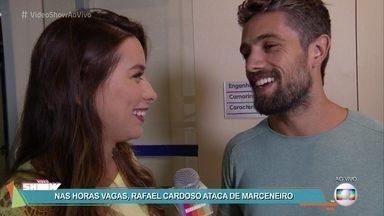 Rafael Cardoso fala sobre a rotina da filha - Ator conversa com o 'Vídeo Show' nos bastidores de gravação da novela 'Sol Nascente' e conta também de seu talento na marcenaria