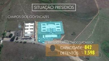 Sindicato dos agentes penitenciários falam sobre instabilidade nos presídios - Presídios do Norte Fluminense estão acima da capacidade máxima.