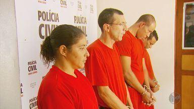 Polícia apresenta suspeitos de crime cometido em Cristais (MG) - Polícia apresenta suspeitos de crime cometido em Cristais (MG)