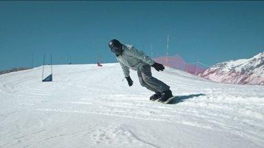 """2º Episódio da série """"Choque Térmico"""" mostra o desafio de enfrentar o desconhecido - Quatro cearenses trocam as dunas pela neve, no Chile."""
