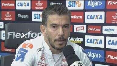Leandro Donizete é outra novidade do Santos - Ele conversou com o repórter Renato Cury, no CT Rei Pelé.