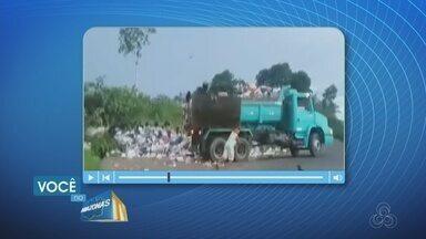 Moradores de Tefé, no AM, criticam falta de aterro sanitário - Telespectador registrou situação e enviou para o Amazonas TV