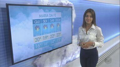 Confira a previsão do tempo para esta quinta-feira (19) no Sul de Minas - Confira a previsão do tempo para esta quinta-feira (19) no Sul de Minas