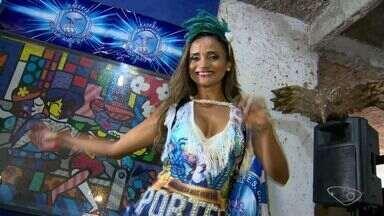 Garota do Samba 2017: candidata da escola Chega Mais se apresenta - Próxima candidata a se apresentar é da Novo Império.