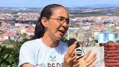 Ex-senadora, Heloísa Helena fala sobre visita política realizada em Sergipe - Ex-senadora, Heloísa Helena fala sobre visita política realizada em Sergipe.
