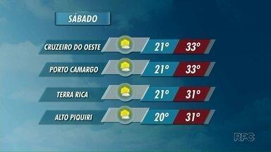 Sábado será de sol e temperaturas acima dos 30º; confira a previsão - Pancadas de chuva também estão previstas
