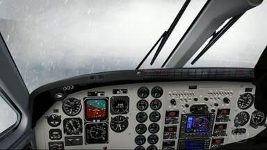 Globocop refaz trajeto do avião que caiu em Paraty - Os repórteres da TV Globo registraram dificuldades para se aproximar da pista do aeroporto.
