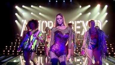 """Fernanda Lima abre o segundo bloco com a música """"Run The World"""" - Todo o poder da mulher é exaltado no palco do programa"""